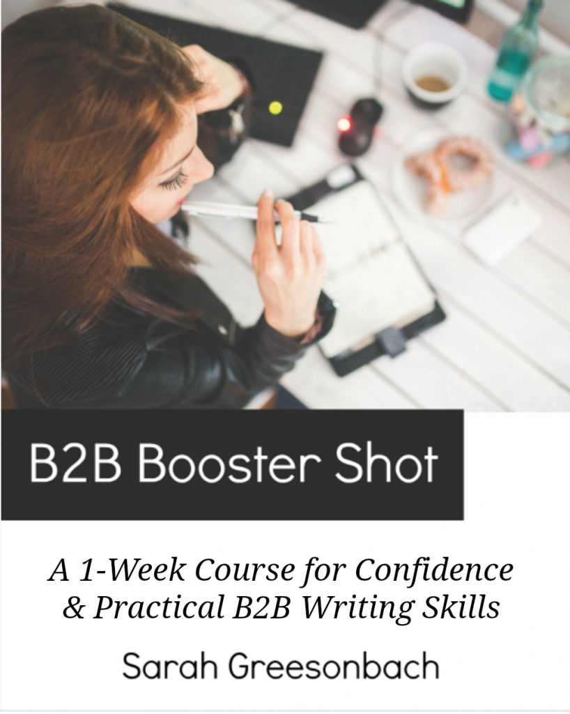 Learn How to Write for B2B - Sarah Greesonbach