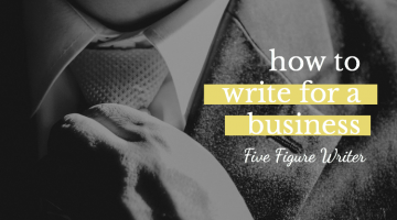How to Write for a Business